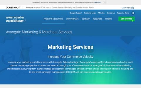 Screenshot of Services Page avangate.com - Avangate Marketing & Merchant eCommerce Services - captured July 6, 2017