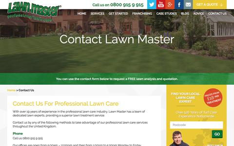 Screenshot of Contact Page lawnmaster.co.uk - Contact Lawn Master - captured July 16, 2018