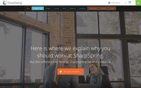 Screenshot of Jobs Page sharpspring.com - Careers | Careers - captured Aug. 24, 2016