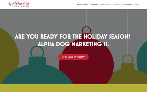 Screenshot of Home Page alphadogmktg.com - Alpha Dog Marketing | Service, Strategies, Solutions - captured Sept. 20, 2015