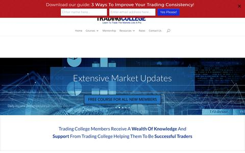 Screenshot of Signup Page tradingcollege.co.uk - Join The Trading College Membership For Only £47 Per Month - captured Sept. 23, 2018