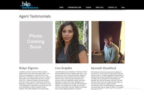 Screenshot of Testimonials Page bluegrassops.com - Testimonials - captured Oct. 6, 2018