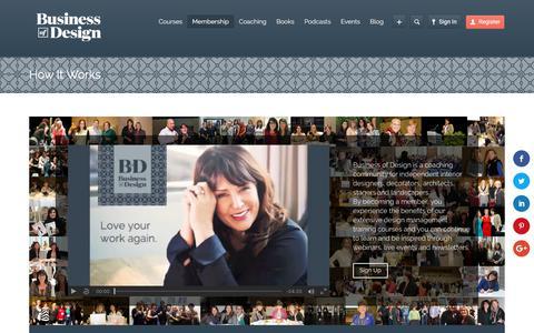 Screenshot of Signup Page businessofdesign.com - How It Works   Business of Design - captured June 3, 2017