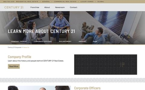 Screenshot of About Page century21.com - About Us - Our History and People   CENTURY 21 - captured June 11, 2018