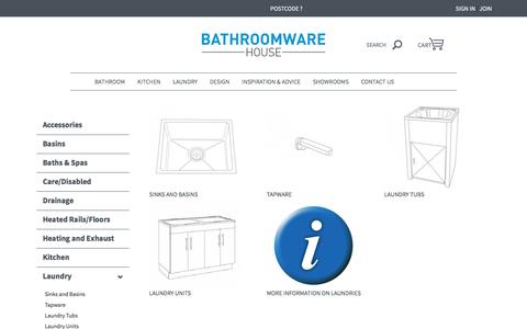 Laundry Units and Tapware | Bathroomware House