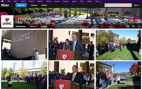 Screenshot of Flickr Page flickr.com - Flickr: UNMC's Photostream - captured Oct. 22, 2014