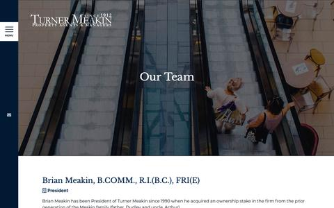Screenshot of Team Page turnermeakin.com - Our Team - Turner Meakin - captured May 29, 2019