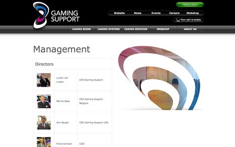 Screenshot of Team Page gamingsupport.com - Management - Gaming Support - captured Sept. 29, 2014