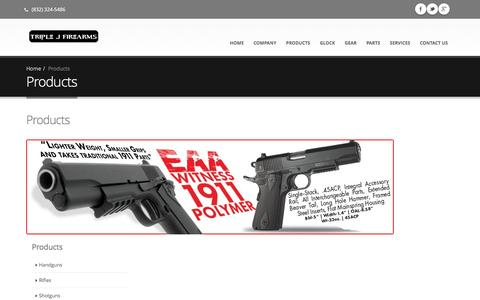 Screenshot of Products Page triplejfirearms.com - Products | Triple J Firearms - captured Aug. 11, 2016