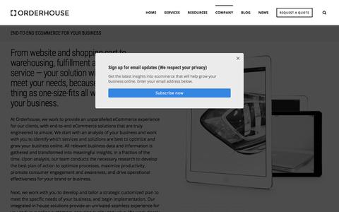 Screenshot of About Page orderhouse.com - Turnkey Electronic Commerce Solutions | Orderhouse - captured July 10, 2018