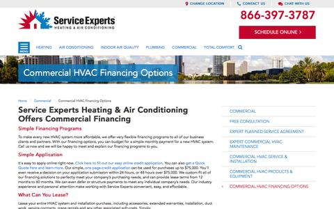 Commercial Financing in your city | Service Experts Heating & Air Conditioning