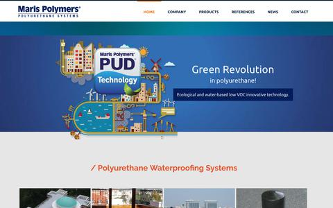 Screenshot of Home Page marispolymers.com - Maris Polymers | Flooring Waterproofing Coating Polyurethane Systems - captured Nov. 7, 2018