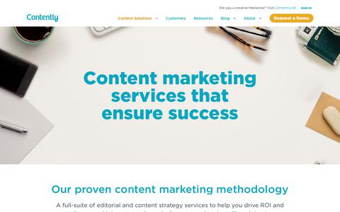 Screenshot of Services Page contently.com - Content Marketing Services | Content Marketing Strategy | Contently - captured Oct. 23, 2019