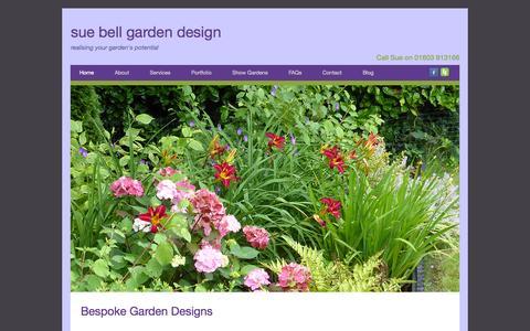 Screenshot of Home Page sbgardendesign.co.uk - Norfolk Garden Design & Planting Plans | Sue Bell - captured Oct. 7, 2014