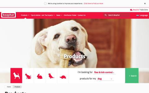 Screenshot of Products Page beaphar.com - Beaphar Pet Care Products - captured Nov. 22, 2016