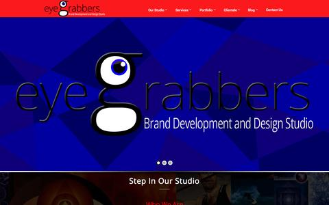 Screenshot of Home Page Team Page eyegrabbers.in - EyeGrabbers | Brand Development & Design Studio | Andheri, Mumbai, Maharashtra, India | Graphic Designer | Logo & Website Designer | Print & Digital Media - captured Sept. 30, 2014