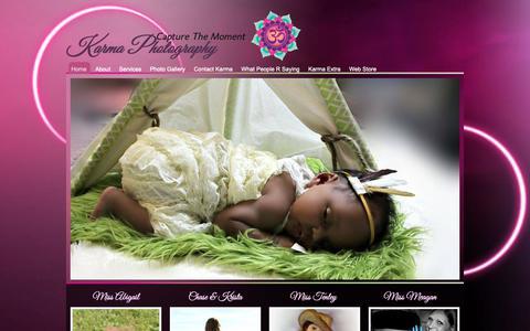 Screenshot of Home Page karmaphotography13.com - Karma Photography Capturing The Moment - captured Oct. 14, 2018
