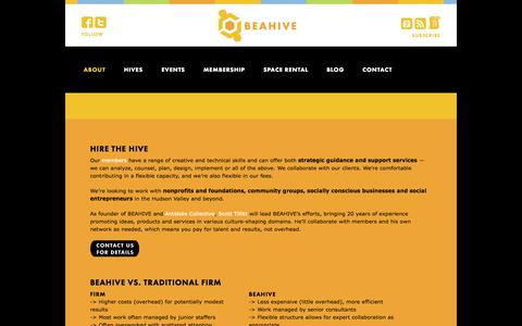 Screenshot of Services Page beahivebzzz.com - Services - BEAHIVE - captured Oct. 4, 2014