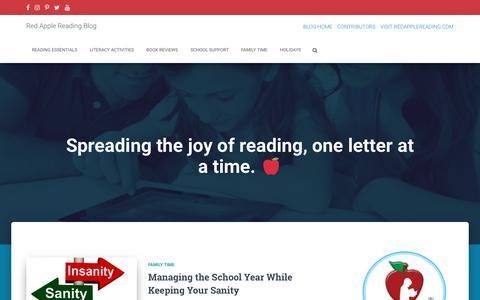 Screenshot of Blog redapplereading.com - Red Apple Reading Express - captured Sept. 21, 2018