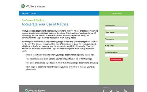 Screenshot of Landing Page datacert.com - Webinar: Accelerate Your Use of Metrics - captured Aug. 17, 2016