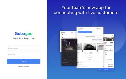 Screenshot of Login Page gubagoo.com - Gubagoo - captured May 4, 2018