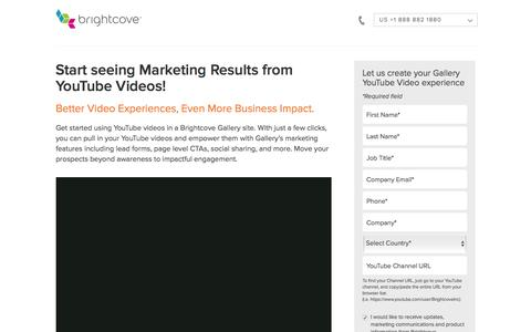 Screenshot of Landing Page brightcove.com - Brightcove | Start seeing Marketing Results from YouTube Videos! - captured Sept. 20, 2016