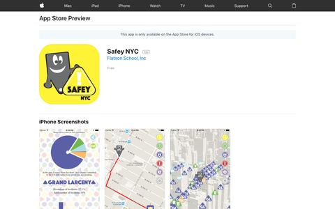 Safey NYC on the AppStore