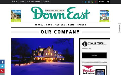Screenshot of About Page downeast.com - Our Company - captured Sept. 24, 2014