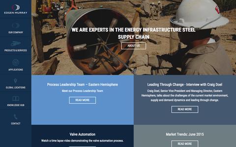 Screenshot of Locations Page edgenmurray.com - Home | Edgen Murray - captured July 3, 2015
