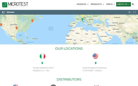 Screenshot of Contact Page microtest.net - Microtest Srl | Contact Us | Lucca, Italy - captured Oct. 18, 2018
