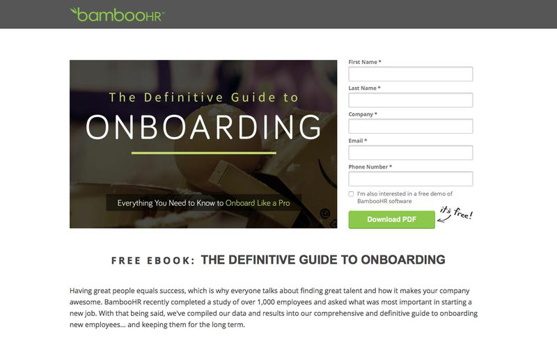 Free ebook: Definitive Guide to Onboarding | BambooHR