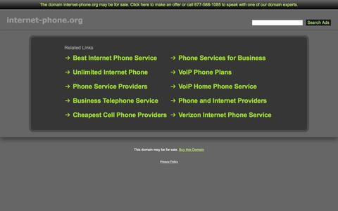 Screenshot of Home Page internet-phone.org - Internet-Phone.org - captured April 13, 2017