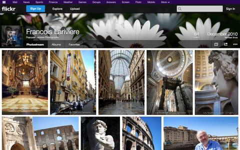 Screenshot of Flickr Page flickr.com - Flickr: Francois Lariviere Photographe's Photostream - captured Oct. 22, 2014