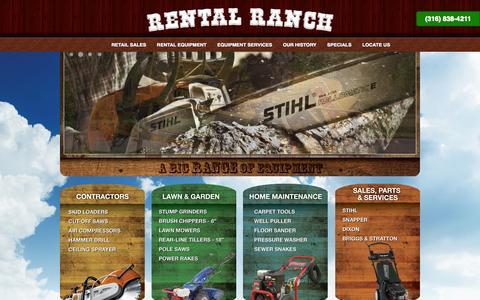 Screenshot of Home Page rentalranchwichita.com - Welcome to Rental Ranch :: Wichita, KS - captured Oct. 6, 2014