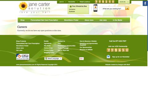 Screenshot of Jobs Page janecartersolution.com - Careers - captured Jan. 9, 2016
