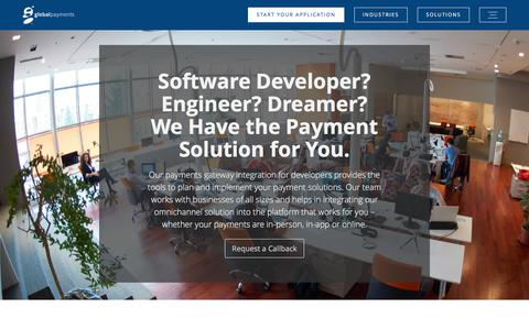 Screenshot of Developers Page globalpaymentsinc.com - Developers - Global Payments - captured Aug. 5, 2017