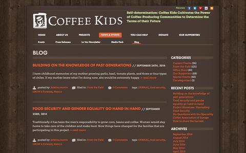 Screenshot of Blog coffeekids.org - Blog - Coffee Kids - captured Sept. 30, 2014