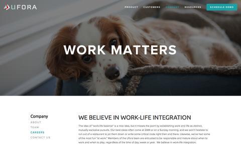 Screenshot of Jobs Page ufora.com - Careers — Ufora - captured Nov. 5, 2014