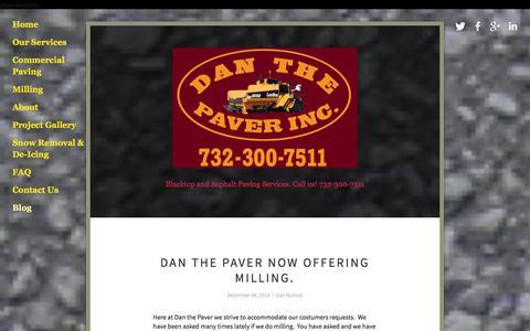 Screenshot of Blog danthepaver.com - Blog Ń Asphalt Paving Company | Paving New Jersey | DanthePaver.com - captured Jan. 7, 2016