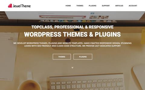Screenshot of Home Page jeweltheme.com - Best Premium WordPress Themes & Plugins - Jewel Theme - captured March 12, 2016