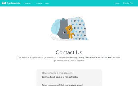Contact | Customer.io