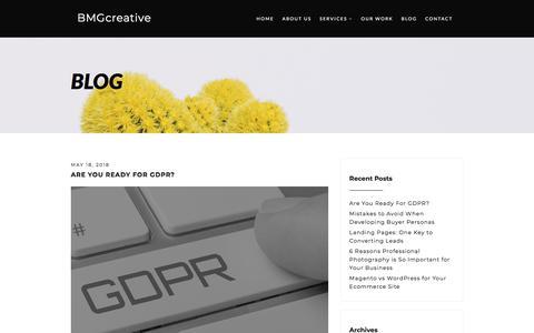 Blog - BMGcreative