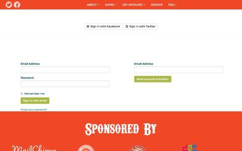 Screenshot of Login Page nationbuilder.com - Sign in - captured May 17, 2016