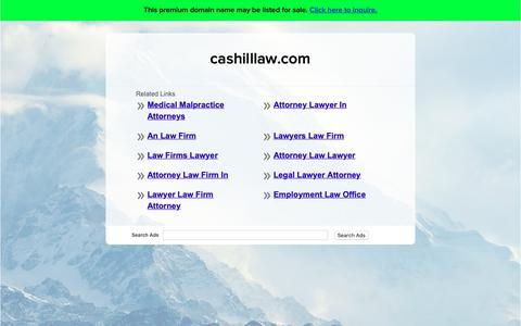 Screenshot of Home Page cashilllaw.com - cashilllaw.com - captured Sept. 27, 2018