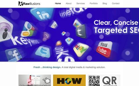 Screenshot of Home Page rawillusions.co.uk - Raw illusions | Total Digital Media & Marketing Solutions - captured Oct. 1, 2014