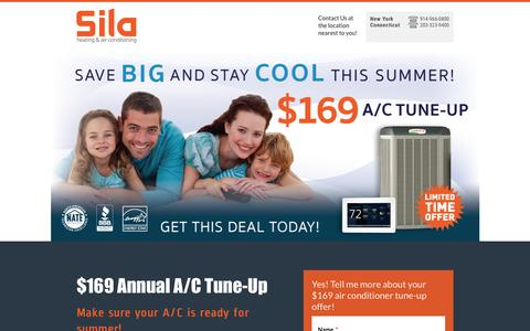 Screenshot of Landing Page sila.com - $169 AC Tuneup Special - captured July 2, 2016