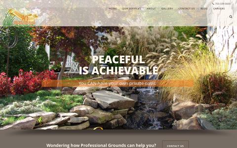 Screenshot of Home Page progrounds.com - Home - Professional Grounds - captured Feb. 1, 2016