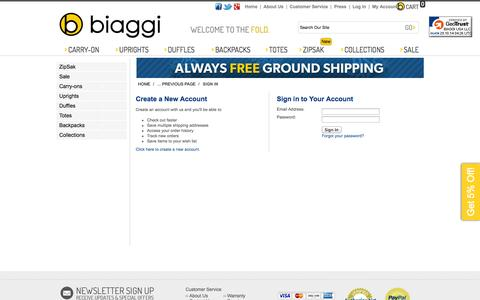 Screenshot of Login Page biaggi.com - Biaggi - Sign in - captured Oct. 29, 2014