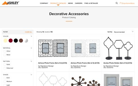 Decorative Accessories - Corporate Website of Ashley Furniture Industries, Inc.