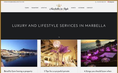 Screenshot of Blog marbellainstyle.com - Blog from Marbella in Style with Lifestyle & Travel tips, Party ideas, etc - captured June 9, 2017